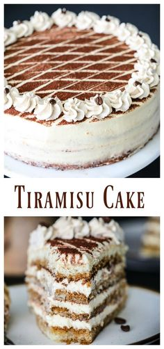 Moist sponge cake soaked in coffee liqueur and layered between a rich mascarpone cream. This tiramisu cake recipe is guaranteed to become a new favorite. Moist sponge cake soaked in coffee liqueur and layered between a rich mascarpone cream.