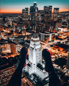 Sunset Over Downtown Los Angeles | 16 Incredibly Beautiful Aerial Pictures Of The American West