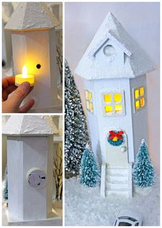 69 Best Diy Christmas Village Houses Images Christmas Crafts