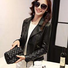 jaqueta feminina de couro grife fashion - pronta entrega  -