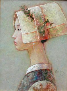 Xue Mo - Mongolian artist - yi girl 03,2000