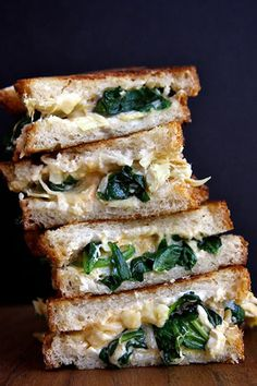 Spinach and Artichoke Grilled Cheese: 13 Grown-Ass Grilled Cheese Recipes