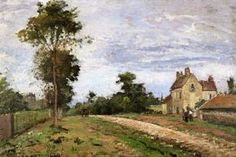 Laundress on the Banks of the River, 1855 by Camille Pissarro. Realism. genre painting. Private Collection
