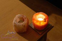 Elegant Himalayan Crystal Rock Salt Candle-tealight Holders Pack of 2 Natural Candle Holders, Natural Candles, Himalayan Salt Crystals, Healthy Environment, Epiphany, Tea Light Holder, Decorating Your Home, Tea Lights, Flare
