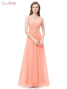 Formal Evening Dresses Ever Pretty EP08110 Sexy Lady Double V Neck Chiffon Evening Gown 2017