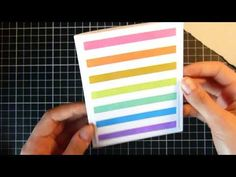 Rainbow Stripes Card || Cardmaking - YouTube