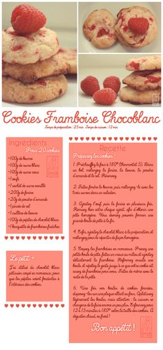 Les Gourmandises de Jelly: ♥ 055 • Cookies Framboise Chocoblanc ♥