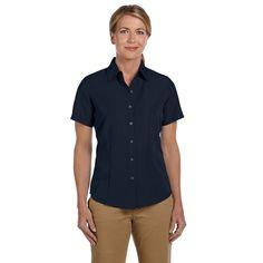 Barbados Women's Textured Camp Navy Shirt