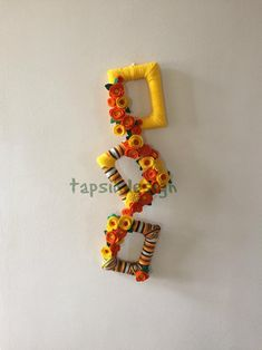 Great for fall or all season decor. Use coupin code HELLOFALL to get off on any item in my shop TapsikDesign. Take a look and get yours unique wreath today. Thanksgiving Wreaths, Fall Wreaths, Thanksgiving Decorations, Christmas Wreaths, Felt Flower Wreaths, Felt Flowers, Wreaths For Sale, Flower Frame, Wall Hanger