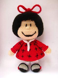 Amigurumi Mafalda inspired doll Amigurumi pattern di picuu                                                                                                                                                                                 Mais