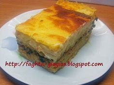 Παστίτσιο με μανιτάρια (και για χορτοφάγους) - από «Τα φαγητά της γιαγιάς» Yams, Cornbread, Vegan Recipes, Vegan Food, Food To Make, Veggies, Pasta, Dishes, Baking