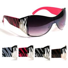 Exotic Zebra Print Sunglasses SRIG9198 Hot trendy fashion sunglasses - Visit us online at www.trendyparadise.com