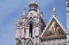 Detail of Siena Cathedral, Tuscany, Italy
