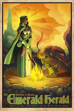 The Emerald Herald - Welcome to Majula - Dark Souls 2 Poster - 24x36 inches Print