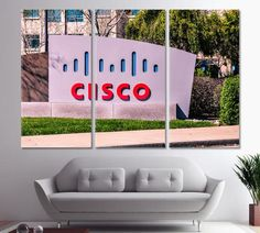 Office decor CISCO Systems Headquartered in San Jose Office art Cisco Silicon Valley Canvas Print Cisco Wall Decor California Artn Print by ArtWog Tree Wall Decor, Tree Wall Art, Office Wall Decor, Office Walls, Office Art, Cisco Systems, Oversized Wall Art, Jesus Painting, Thing 1