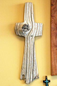 Weathered Wood Cross 19 hoch x 7 breit von BlackFacedSheep auf Etsy, - holz diy Wooden Crosses, Wall Crosses, Driftwood Projects, Driftwood Art, Weathered Wood, Barn Wood, Rustic Cross, Old Rugged Cross, Cross Art