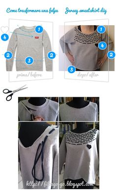 The Forge style sweatshirt in my personal version @TheForgeStyle #FiloAgoGo #DIY #HowToTransformASweatshirt #Sweatshirt