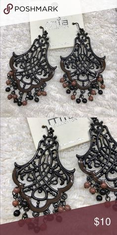 Black/Brown Mia Earrings New bohemian earrings. Mia Jewelry Earrings