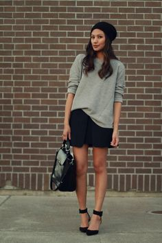 Donatila Rose in Zara sweat and skirt