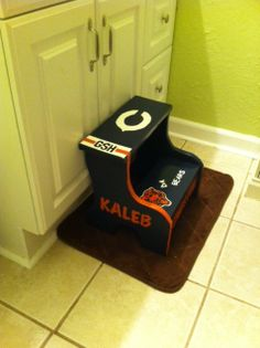 Chicago Bears Customized Childu0027s Step Stool $25 + Shipping