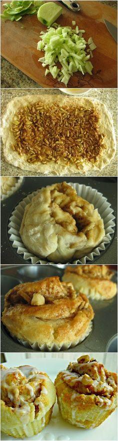 Apple Walnut Cinnamon Roll Cupcakes Ingredients Cinnamon Roll Ingredients: 2 cups 2% milk 1 tablespoon (.5 oz) active dry yeast 1/3 cup suga...