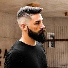 What do you think of this hairstyle? Comment below . Faded Beard Styles, Beard And Mustache Styles, Beard Styles For Men, Beard No Mustache, Hair And Beard Styles, Short Hair Styles, Beard Haircut, Fade Haircut, Cool Hairstyles For Men