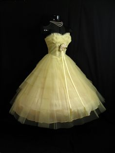 Vintage 1950's 50s STRAPLESS Bombshell Layered by VintageVortex, $349.99. Wouldn't use but love!