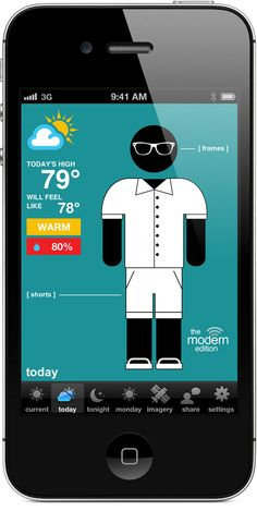 Swackett - iPhone weather app with comprehensive info and clothing recommendations