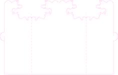 Traits de plis et de découpe de la carte de vœux.