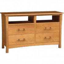 Monterey Solid Cherry 4-Drawer Dresser and TV Stand - An eco-friendly contemporary dresser/TV stand from the Monterey Collection