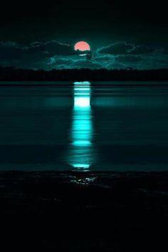 moonrise on sea