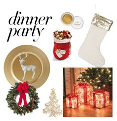 """""""Sparkle dinner party?!"""" by georgina2610 on Polyvore featuring Parlane, A by Amara, Improvements, Nadri and Frontgate"""