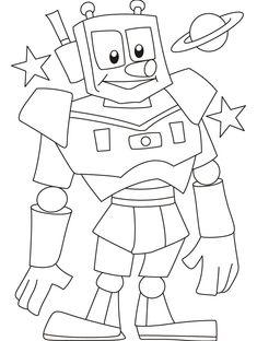 61 En Iyi Robot Goruntusu Boyama Sayfalari Sanat Ve Okul