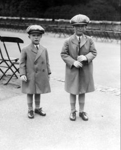 George Lascelles, 7. Earl of Harewood and his brother The Honourable Gerald David Lascelles. George and Gerald lived at Goldsborough Hall throughout the 1920s.
