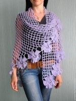 shawl with flowers want to make same color purple or darker