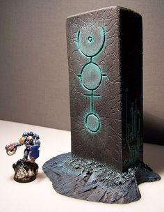 Terrain Scenery Warhammer 40K for Table Wargames Necron Monolith | eBay