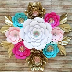 Items similar to Paper Flower Backdrop, Giant Paper Flowers, Wedding Centerpiece, Wedding Backdrop on Etsy Colour Paper Flowers, Paper Flower Decor, Large Paper Flowers, Paper Flower Backdrop, Giant Paper Flowers, Paper Decorations, Diy Flowers, Flower Decorations, Diy And Crafts