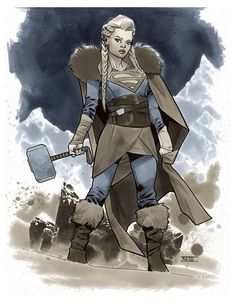 Viking Supergirl - LSCC 2015 Pre-Show Commission by Mahmud Asrar