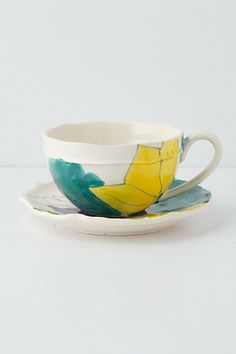 Palette-Sketch Teacup & Saucer #anthropologie
