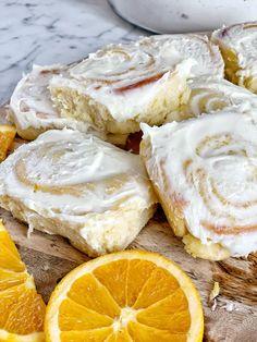 Kamut Flour, Orange Sweet Rolls, Mini Rolls, Rolls Recipe, Cinnamon Rolls, Breakfast Recipes, Sweet Tooth, Bakery, Brunch