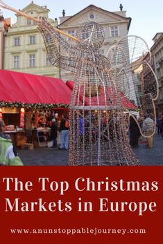 When in Europe, nothing gets you into the holiday spirit in like a Christmas market. These markets, which originated in Germany, can now be found in many cities throughout Europe. Here's a look at the top Christmas markets in Europe. Christmas Markets Europe, Christmas Travel, Holiday Travel, Merry Christmas, Europe Travel Tips, European Travel, Travel Destinations, Travel Goals, Travel Ideas