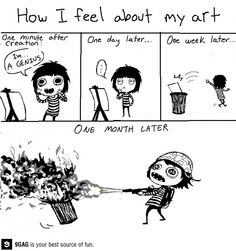 Luckily, I don't feel this way because all I can properly draw is a smiley face.