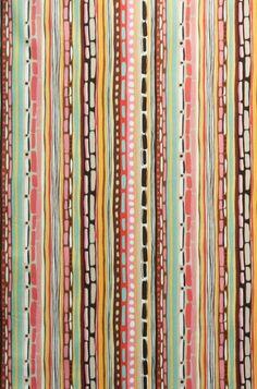 """Ramblas-Stripe,"" Alexander Henry, fabric."