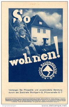 Original-Werbung/Inserat/ Anzeige 1935: 1/1-SEITE KOSMOS BAUSPARKASSE ca 150 X 240 mm