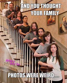 Maggie, Rick, Michonne, Daryl, Sasha, Jesus, Tara, Carl & Enid