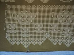 Fair Isle Knitting Patterns, Crochet Rug Patterns, Crochet Lace Edging, Crochet Borders, Doily Patterns, Thread Crochet, Crochet Doilies, Cross Stitch Patterns, Knit Crochet