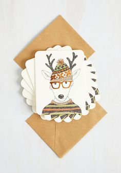 Hipster to be Square Notecard Set, @ModCloth