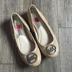 Michael Kors Ballet Flats Shoes Silver H/W Patent Michael Kors ballet flats. Excellent condition. Size 6. Silver hardware. Patent  quilted leather. No box. MICHAEL Michael Kors Shoes Flats & Loafers