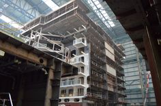 Our newest ship, Quantum of the Seas, under construction.