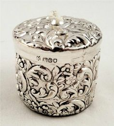 Antique silver string holder London 1900